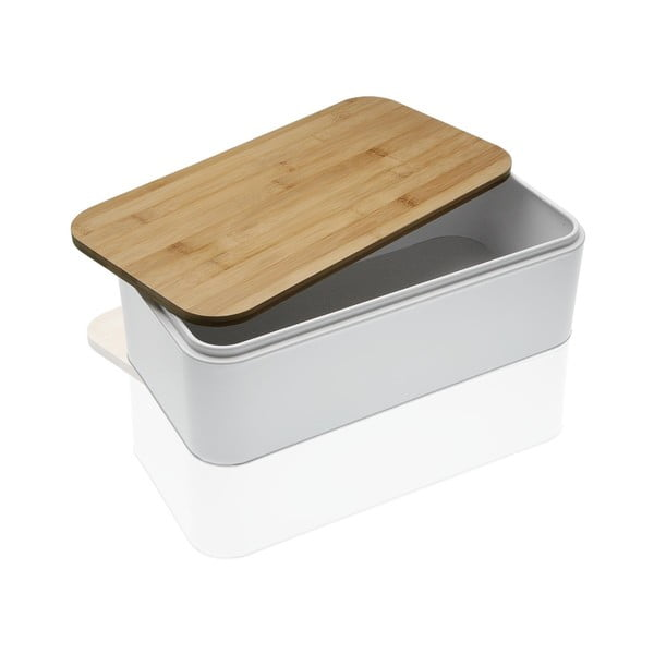 08378a1eff35ae Biało-brązowey pojemnik na chleb Versa Gourmet