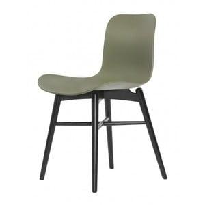 Zelená jídelní židle NORR11 Langue Dark