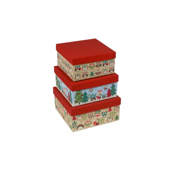 Sada 3 ks krabic Tri-Coastal Christmas Stories