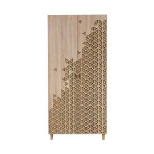 Dřevěná šatní skříň Ursula Triangle