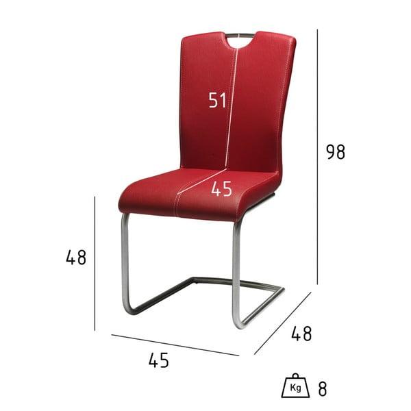 Sada 2 červených jídelních židlí Furnhouse Lotus