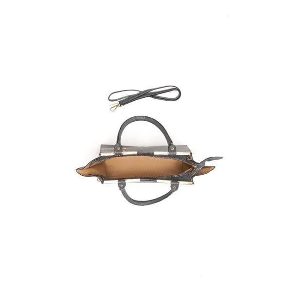 Kožená kabelka Marion 1127 Grigio