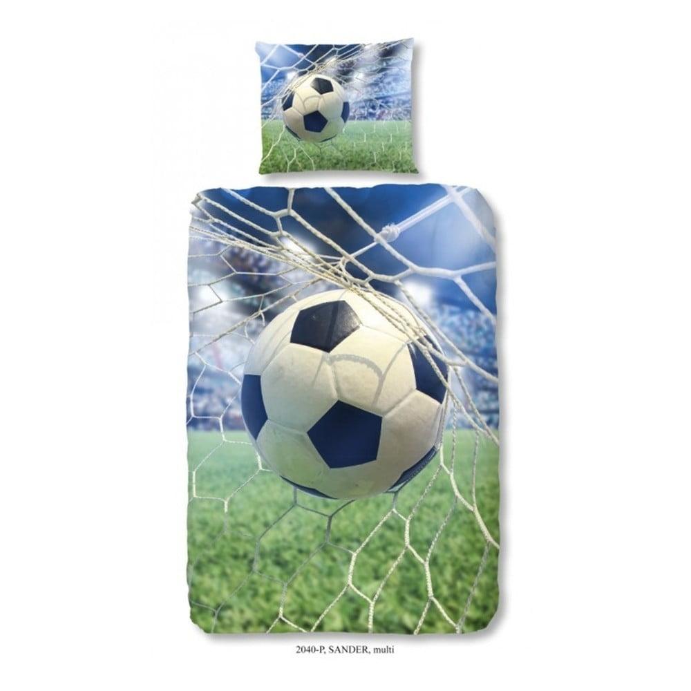 Dětské povlečení z bavlny na jednolůžko z čisté bavlny Good Morning Football Game, 140x200 cm Good Morning