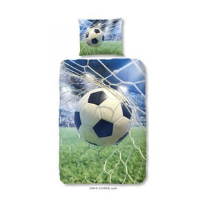 Lenjerie de pat din bumbac pentru copii Good Morning Football Game, 140 x 200 cm