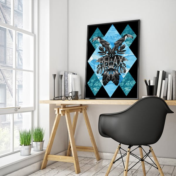 Plakát s tukany Relax, 30 x 40 cm