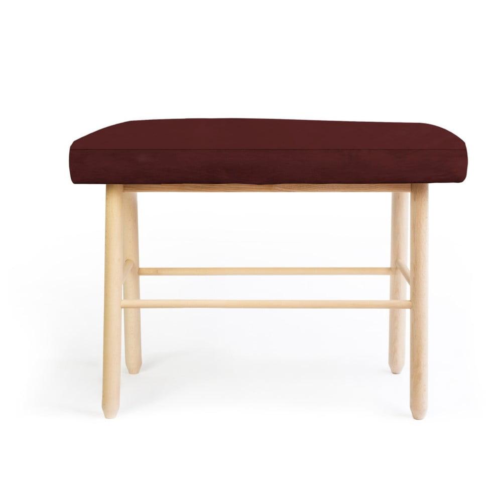 Stolička z borovicového dřeva s hnědým sametovým potahem Velvet Atelier