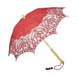 Vínový holový deštník Von Lilienfeld Lace Vivienne