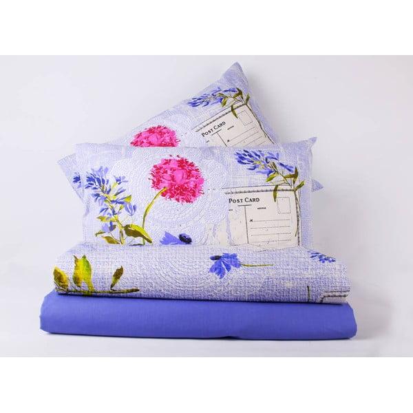 Sada přehozu, prostěradla a povlaku na polštář Love Colors Holly, 160 x 240 cm