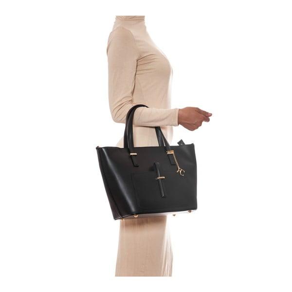 Kožená kabelka Renata Corsi 3005 Nero
