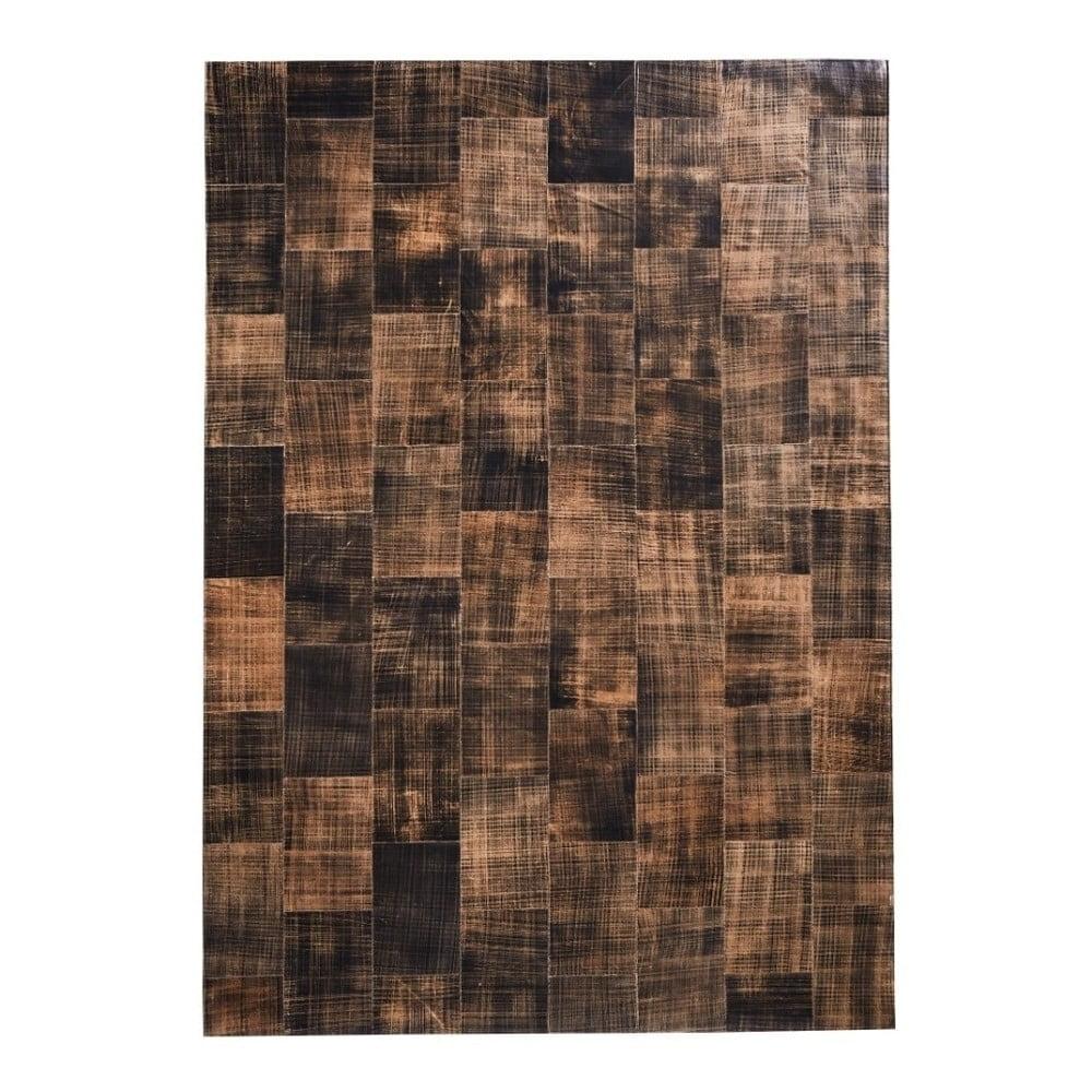 Hnědý koberec z pravé kůže Fuhrhome Cairo, 120 x 180 cm