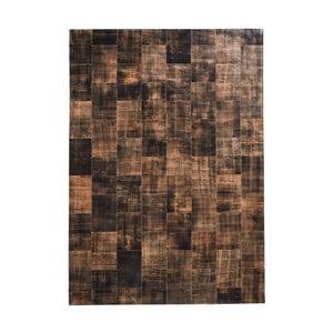 Hnědý koberec z pravé kůže Fuhrhome Cairo, 170x240cm