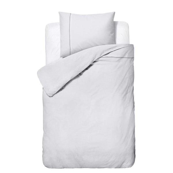 Lenjerie de pat din micropercal Zensation Satin Monte Carlo, 140 x 200 cm, alb
