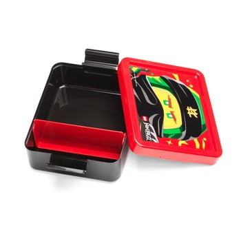 Cutie pentru gustare cu capac roşu LEGO® Iconic, negru imagine