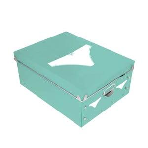 Úložný box na dámské spodní prádlo Turquoise Picto, 34,5x26cm
