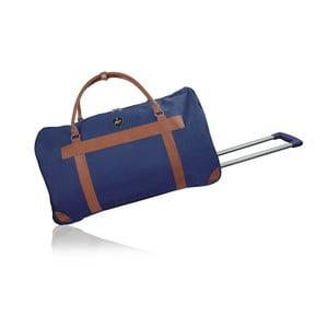 Modrá cestovní taška na kolečkách GENTLEMAN FARMER Oslo, 40 l