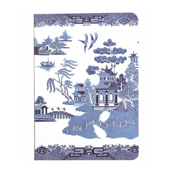 Agendă Gift Republic Blue Willow, A6