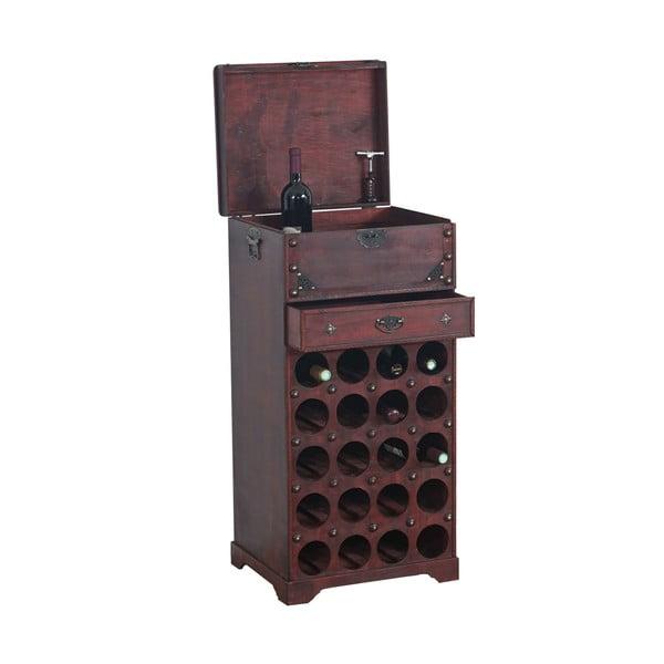 Hnědý dřevěný stojan na 20 lahví vína Shabby Colonial
