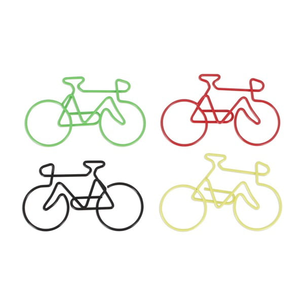 Set 4 agrafe hârtie decorative npw™ Bicycle