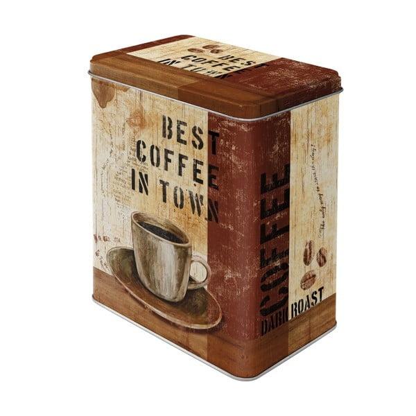 Plechová dóza Coffee, velikost L
