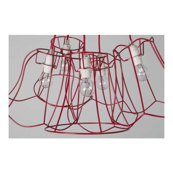 Stropní lustr Granny Wire Red