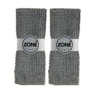Pár malých ručníků, 2 ks, 30x30 cm, šedé
