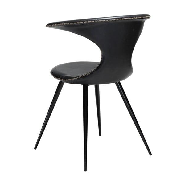 Černá koženková židle DAN-FORM Denmark Flair