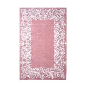 Růžový koberec Mafisto Frame, 120x170cm