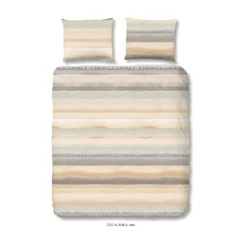 Lenjerie de pat din bumbac Good Morning Sand, 140 x 200 cm