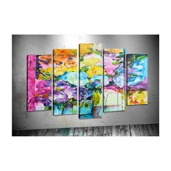 Set 5 tablouri Tablo Center Swirly Flowers