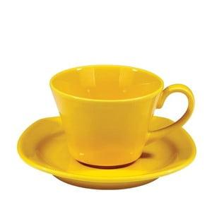 Sada hrníčků na kávu 200 ml, žlutá, 6 ks