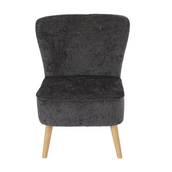 Křeslo Vaasa Lounge, šedý textilní potah