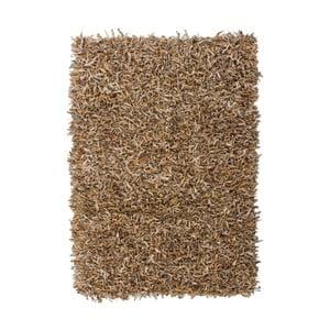 Béžový kožený koberec Rodeo, 80x150cm
