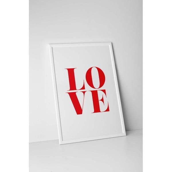 Autorský plakát Red Love, vel. A3