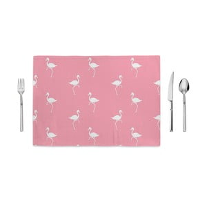 Růžové prostírání Home de Bleu White Flamingos, 35x49cm