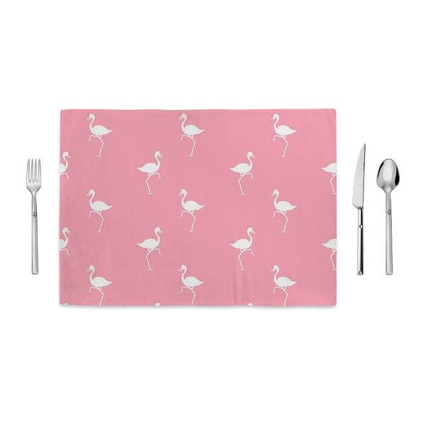 White Flamingos rózsaszín tányéralátét, 35 x 49cm - Home de Bleu