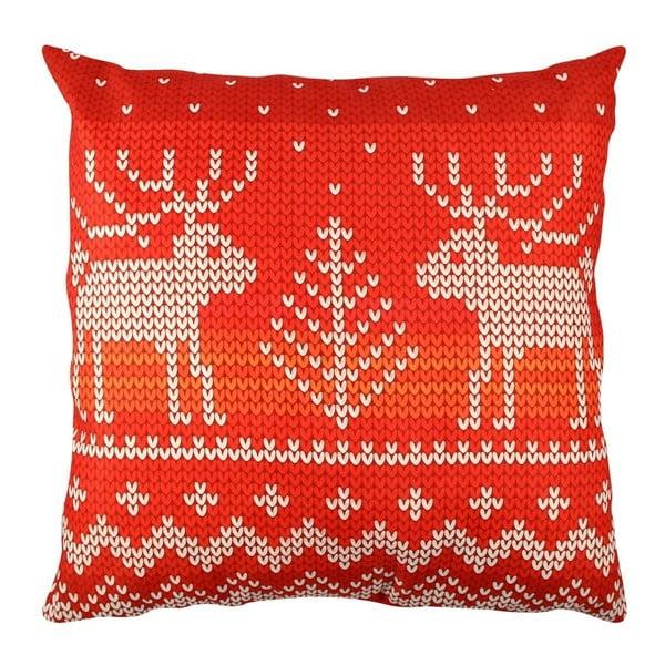 Polštář s jeleny Christmas Knitting