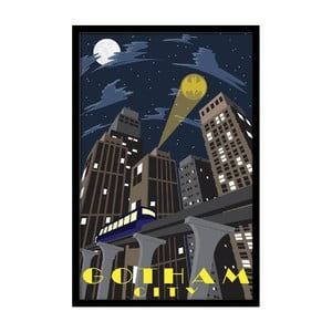 Plakát Gotham Night, 35x30 cm