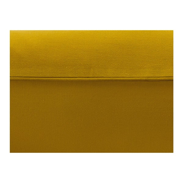 Hořčicově žluté bavlněné povlečení na jednolůžko Mumla, 160 x 200 cm