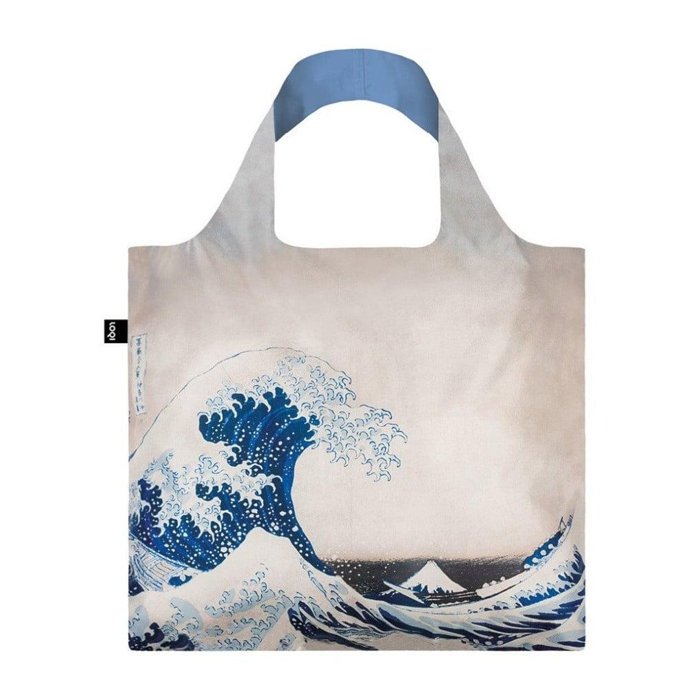 Skládací nákupní taška s kapsičkou LOQI Wave
