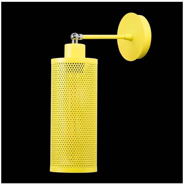 Žlutá nástěnná lampa Shade