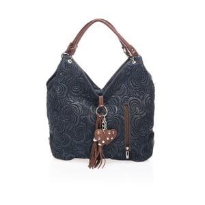 Modrá kožená kabelka Giorgio Costa Terst