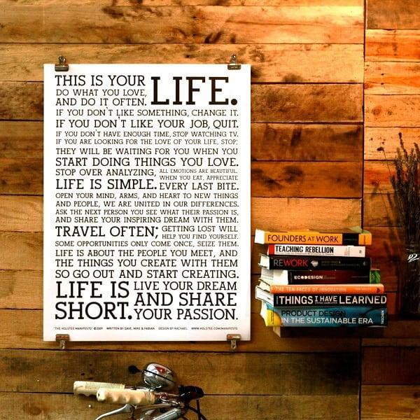 Plakát White Manifesto, 26x21 cm
