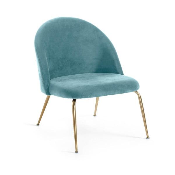 Turkusowe krzesło La Forma Mystere