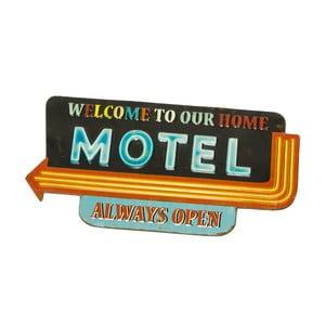 Nástěnná cedule Novita Sign Motel, 58,5x30,5cm