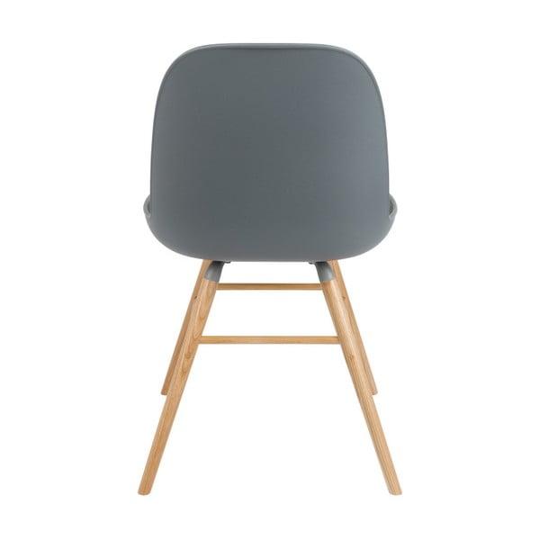 Set 2 scaune Zuiver Albert Kuip, gri închis