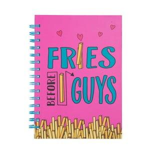 Zápisník Tri-CoastalDesign Fries Before Guys