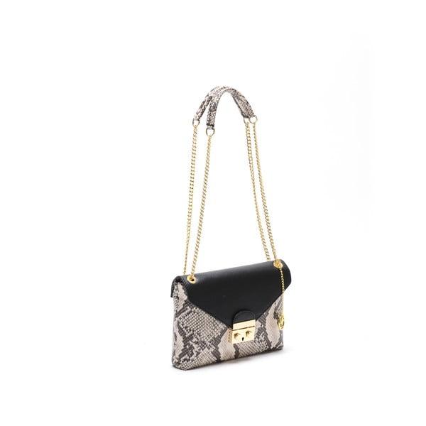 Černá kožená kabelka Carla Ferreri Classic