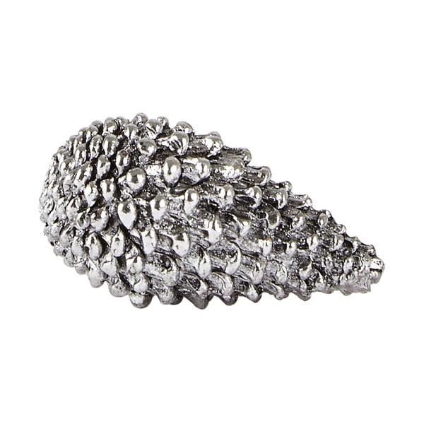 Decorațiune KJ Collection Cone, 5 cm, argintiu