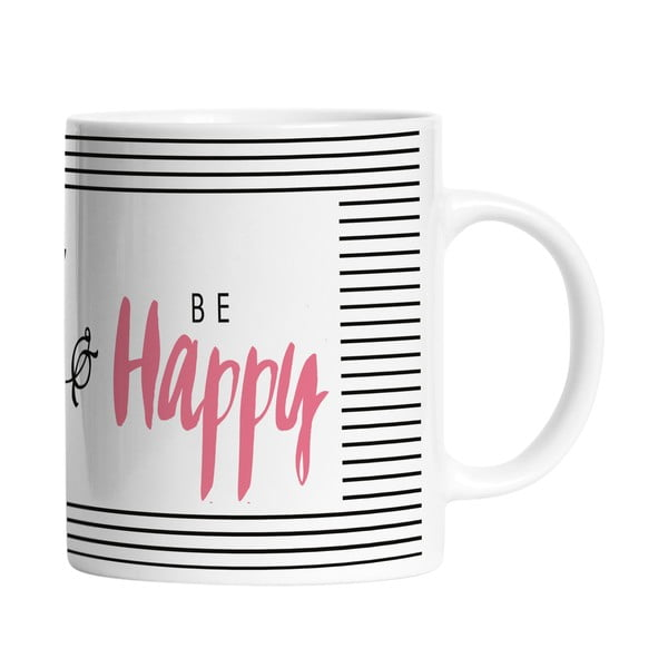 Keramický hrnek Think Happy, 330 ml
