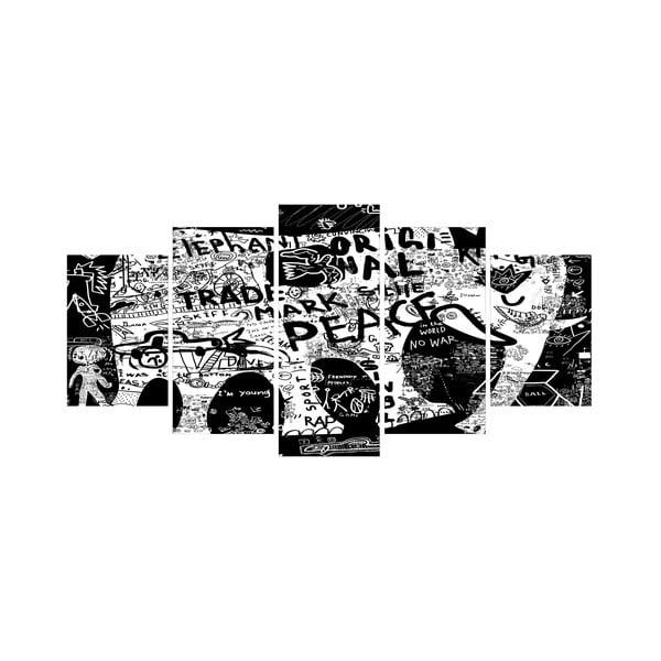 Vícedílný obraz Black&White no. 22, 100x50 cm
